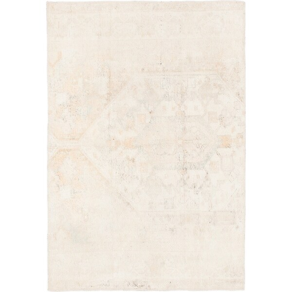 Hand Knotted Ultra Vintage Wool Area Rug - 4' 3 x 6'