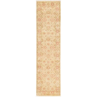 Hand-knotted Chobi Finest Ivory Wool Rug