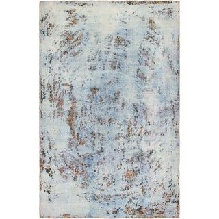 Hand Knotted Ultra Vintage Wool Area Rug - 6' 2 x 9' 6