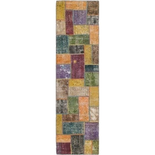 Hand Knotted Ultra Vintage Wool Runner Rug - 2' 9 x 10' 2