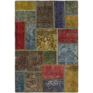 Hand Knotted Ultra Vintage Wool Area Rug - 3' x 4' 2