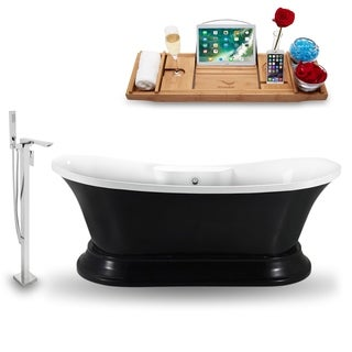"""Tub, Faucet and Tray Set Streamline 68""""  Freestanding NH961CH-140"""
