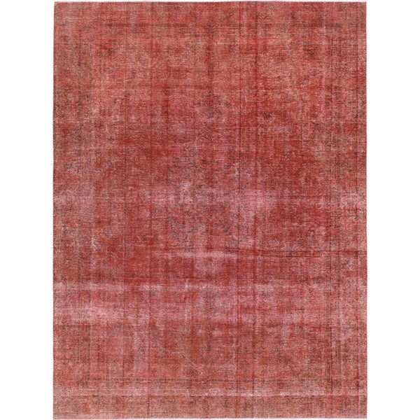 Hand Knotted Ultra Vintage Wool Area Rug - 9' x 11' 10