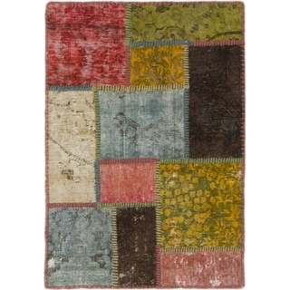 Hand Knotted Ultra Vintage Wool Area Rug - 2' 2 x 3' 2