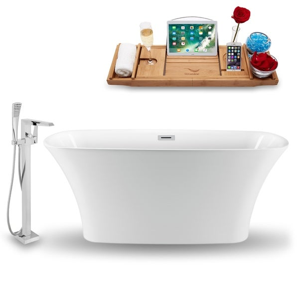 """Tub, Faucet and Tray Set Streamline 70"""" Freestanding NH1320-100"""