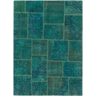 Hand Knotted Ultra Vintage Wool Area Rug - 4' 4 x 6'