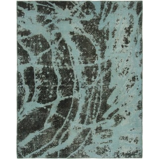 Hand Knotted Ultra Vintage Wool Square Rug - 4' 7 x 5' 9