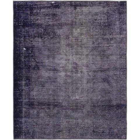 Hand Knotted Ultra Vintage Wool Square Rug - 4' 6 x 5' 6