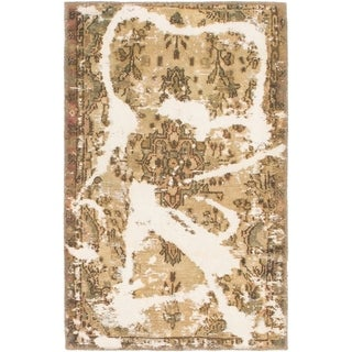 Hand Knotted Ultra Vintage Wool Area Rug - 2' 3 x 3' 7