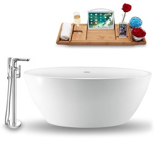"""Tub, Faucet and Tray Set Streamline 70""""  Freestanding NH1300-120"""