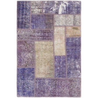 Hand Knotted Ultra Vintage Wool Area Rug - 2' 9 x 4' 3