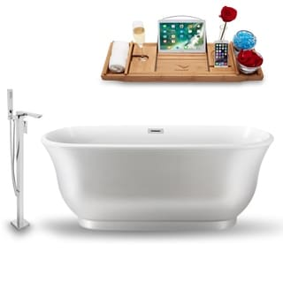 """Tub, Faucet and Tray Set Streamline 59""""  Freestanding NH664-140"""
