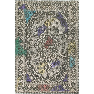 Hand Knotted Ultra Vintage Wool Area Rug - 7' 8 x 11' 2