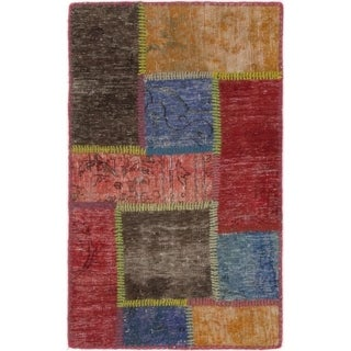 Hand Knotted Ultra Vintage Wool Area Rug - 2' x 3'