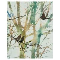 Botanical Birds I by Carol Robinson Wrapped Canvas Art Print