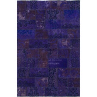 Hand Knotted Ultra Vintage Wool Area Rug - 6' 7 x 9' 10