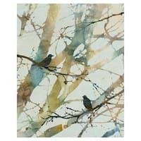 Botanical Birds II by Carol Robinson Wrapped Canvas Art Print
