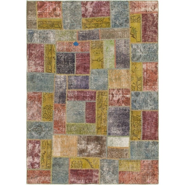 Hand Knotted Ultra Vintage Wool Area Rug - 5' 10 x 8' 2