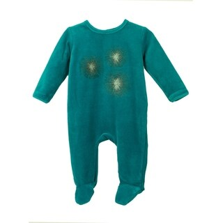 Baby Clothes Sleep N Play Footie Coverall Romper Sparkle design Boy or Girl Unisex Long Sleeve