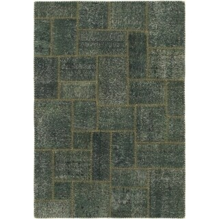 Hand Knotted Ultra Vintage Wool Area Rug - 4' x 5' 9