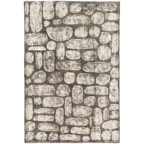 Hand Knotted Ultra Vintage Wool Area Rug - 3' 2 x 4' 9