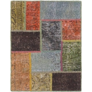 Hand Knotted Ultra Vintage Wool Area Rug - 2' 3 x 2' 10