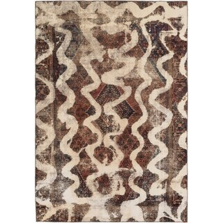 Hand Knotted Ultra Vintage Wool Area Rug - 7' 3 x 10' 7