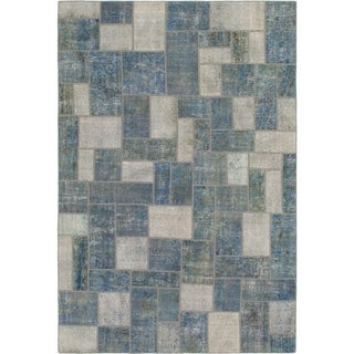 Hand Knotted Ultra Vintage Wool Area Rug - 7' 2 x 10' 6