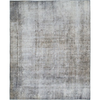 Hand Knotted Ultra Vintage Wool Square Rug - 7' x 8' 5