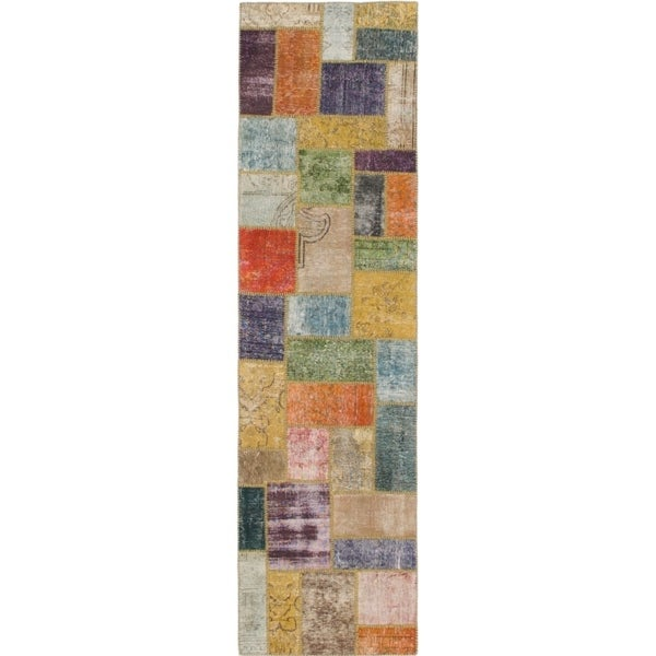 Hand Knotted Ultra Vintage Wool Runner Rug - 2' 8 x 9' 9