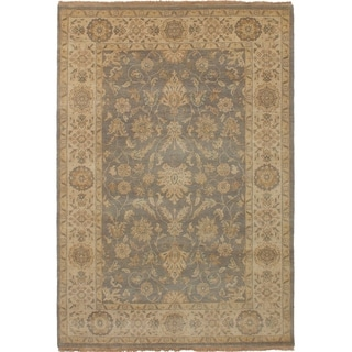 ECARPETGALLERY  Hand-knotted Royal Ushak Dark Grey Wool Rug - 5'4 x 7'9