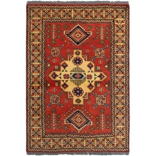 ECARPETGALLERY  Hand-knotted Finest Kargahi Copper Wool Rug - 3'11 x 5'8