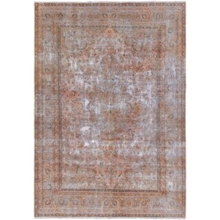 ECARPETGALLERY Hand-knotted Color Transition Brown Wool Rug - 6'6 x 9'1