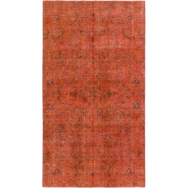 Hand Knotted Ultra Vintage Wool Area Rug - 4' 9 x 8' 7