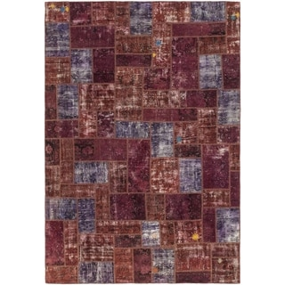 Hand Knotted Ultra Vintage Wool Area Rug - 7' x 10' 3