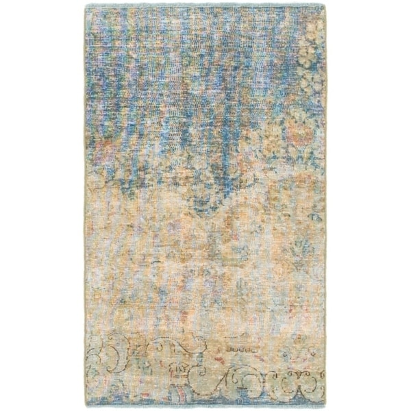 Hand Knotted Ultra Vintage Wool Area Rug - 1' 10 x 3' 3