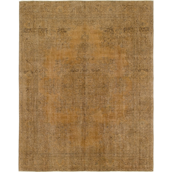 Hand Knotted Ultra Vintage Wool Area Rug - 9' 4 x 12'