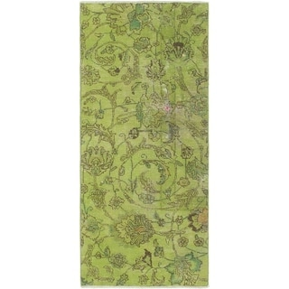 Hand Knotted Ultra Vintage Wool Runner Rug - 2' x 4' 10