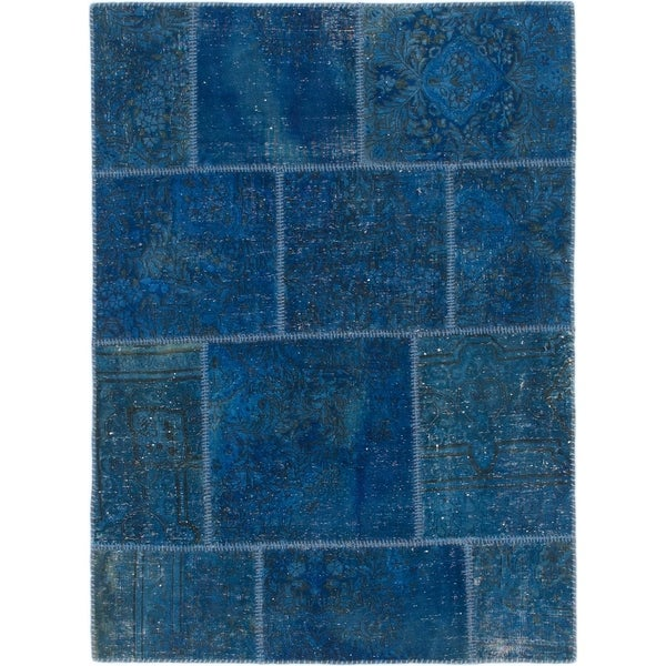 Hand Knotted Ultra Vintage Wool Area Rug - 3' 9 x 5' 2