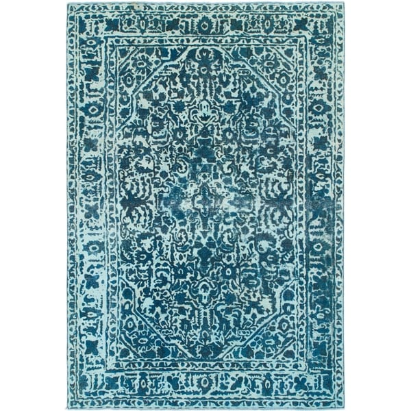 Hand Knotted Ultra Vintage Wool Area Rug - 6' 5 x 9' 6