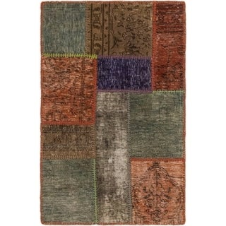 Hand Knotted Ultra Vintage Wool Area Rug - 2' 2 x 3' 3