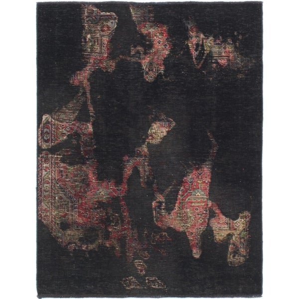 Hand Knotted Ultra Vintage Wool Area Rug - 3' 5 x 4' 6