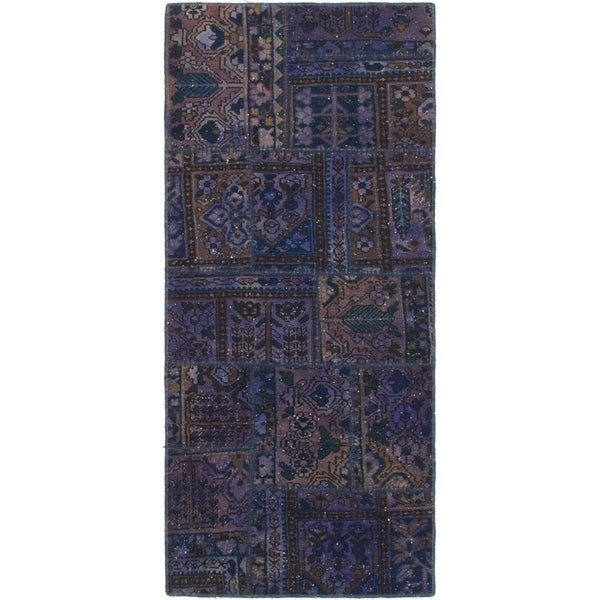 Hand Knotted Ultra Vintage Wool Runner Rug - 2' 9 x 6' 3