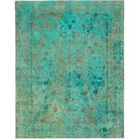 Hand Knotted Ultra Vintage Wool Area Rug - 9' 5 x 12'