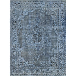 Hand Knotted Ultra Vintage Wool Area Rug - 9' 6 x 13'