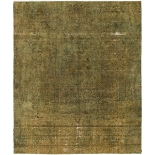 Hand Knotted Ultra Vintage Wool Area Rug - 9' 10 x 12'