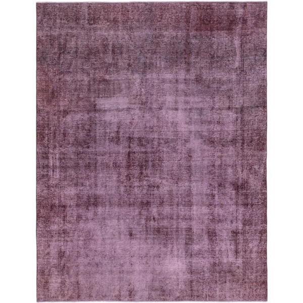 Hand Knotted Ultra Vintage Wool Area Rug - 9' 2 x 11' 8