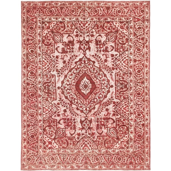 Hand Knotted Ultra Vintage Wool Area Rug - 9' 9 x 13'