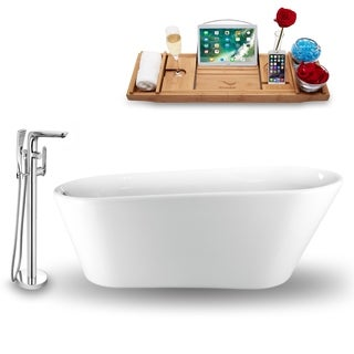 "Tub, Faucet and Tray Set Streamline 69""  Freestanding NH1522-120"