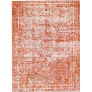 Hand Knotted Ultra Vintage Wool Area Rug - 8' 9 x 11' 9